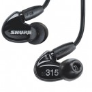 Shure SE315 Sound Isolating In Ear Headphones - Black