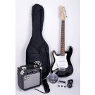 SX Left Handed 3/4 Electric Guitar Pack in Black