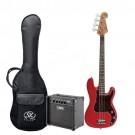 SX Bass plus LX15B Amp Beginners Bass Pack