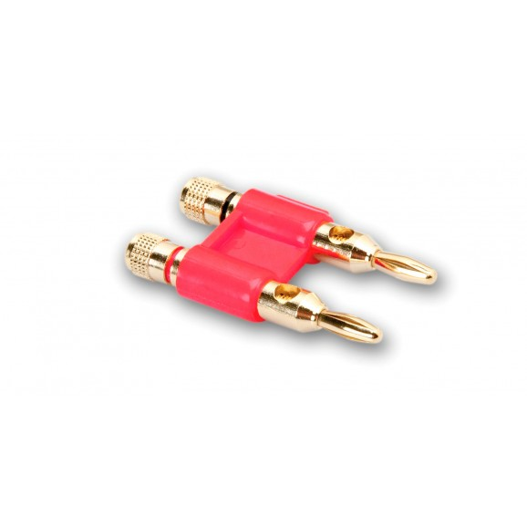 Hosa - BNA-260RD - Connector, Dual Banana, Red