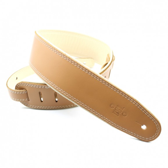 "DSL Straps - GEP25-18-3 2.5"" Rolled Edge Tan/Beige Guitar Strap"