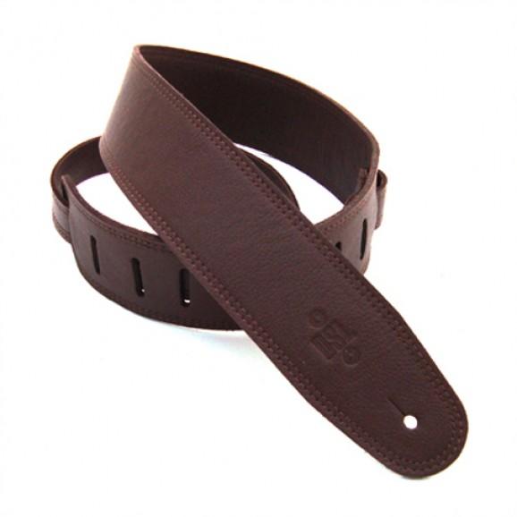 """DSL Straps - GLG25-BROWN 2.5"""" Triple Garment Brown/Brown Guitar Strap"""