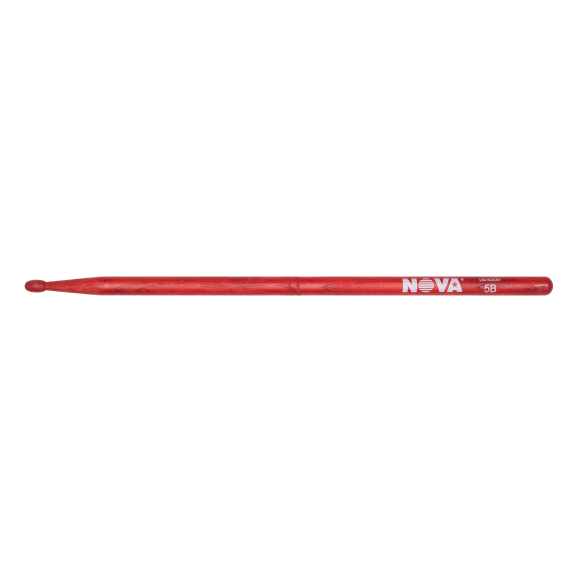Vic Firth - 5B in red with NOVA imprint Drumsticks