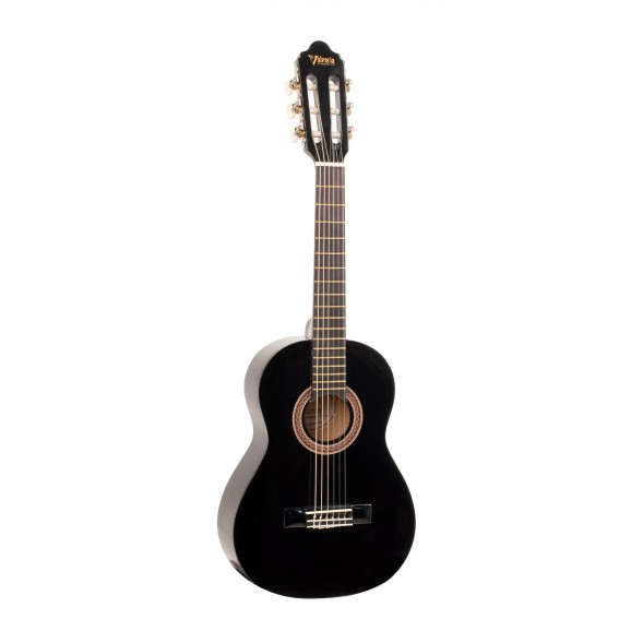 Valencia VC101BK - 1/4 Size Classical Guitar - Gloss Black