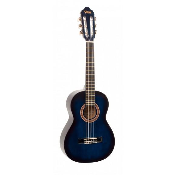 Valencia VC101BUS - 1/4 Size Classical Guitar - Gloss Blue Sunburst