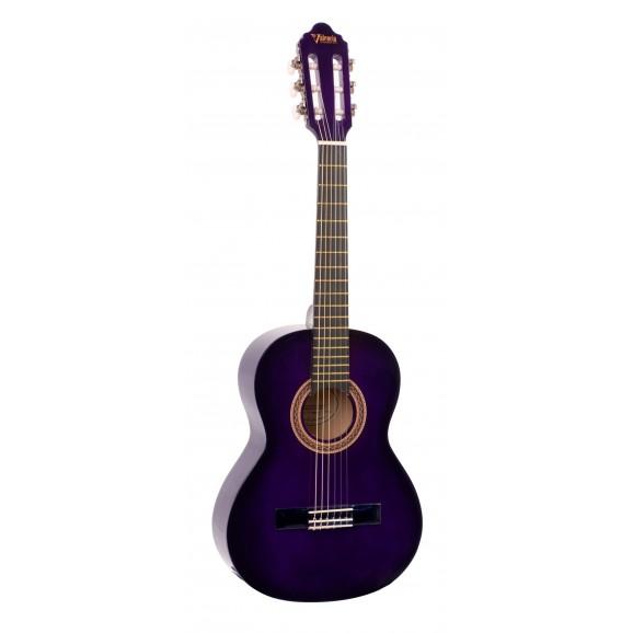 Valencia VC102PPS - 1/2 Size Classical Guitar - Gloss Purple Sunburst