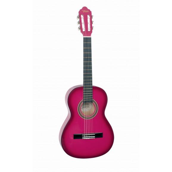 Valencia VC103PKS - 3/4 Size Classical Guitar - Gloss Pink Sunburst