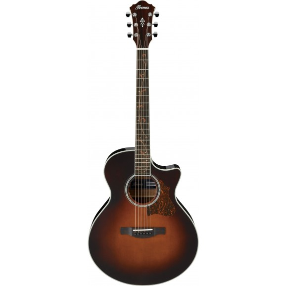 Ibanez -  AE205 BS Acoustic Guitar - Brown Sunburst High Gloss - 2019
