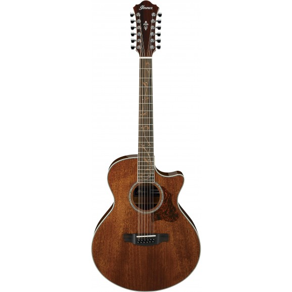 Ibanez -  AE2412 NT Acoustic Guitar 12 String - Natural High Gloss - 2019