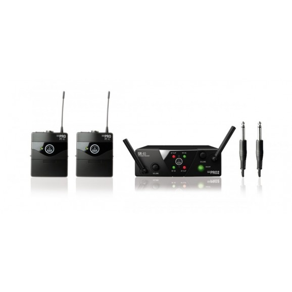 AKG WMS40 Mini Wireless System Dual Instrument Set Band A/C