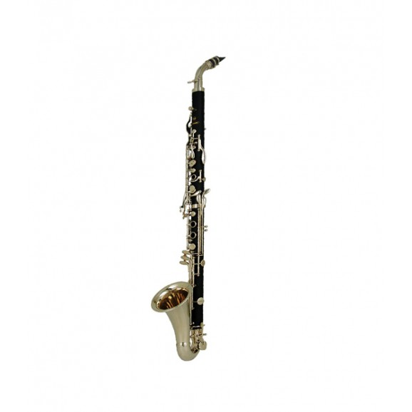 Alto Clarinet Abs Body Silver Plated Keys In Deluxe Case