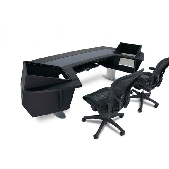 Argosy AURA.520S Sit-Stand Workstation w/Upper Rack on Left & Right