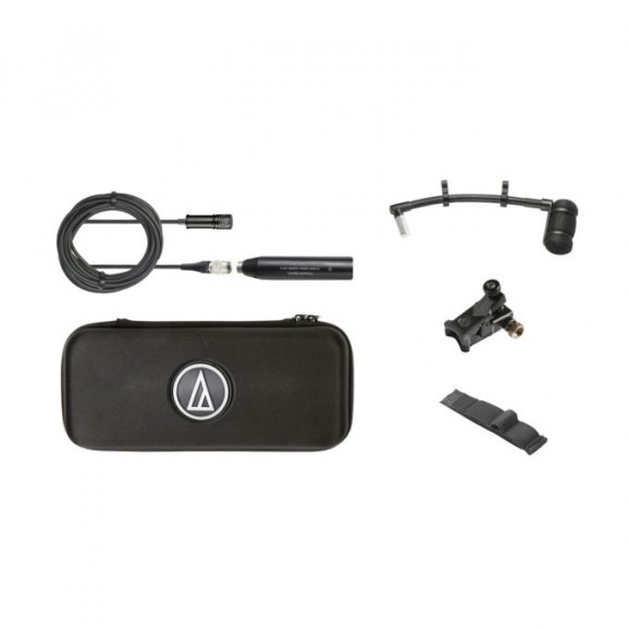 "Audio Technica ATM350U Cardioid Condenser Instrument Microphone with Universal Clip-on Mounting System (5"" Gooseneck)"