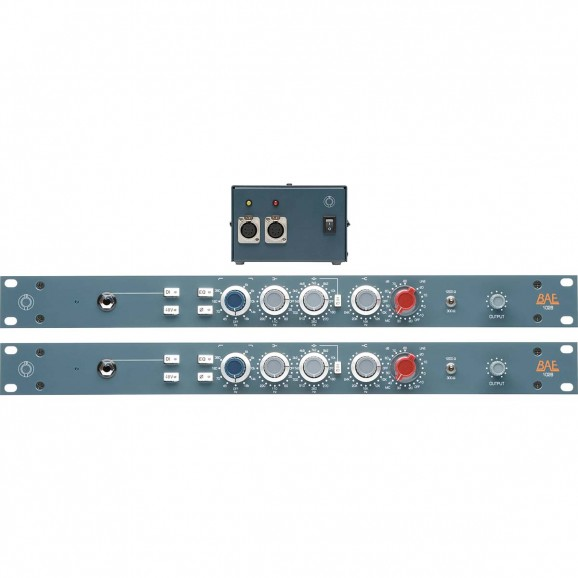 BAE 1028 Rack Mount Mic Preamp & EQ With PSU (Pair)