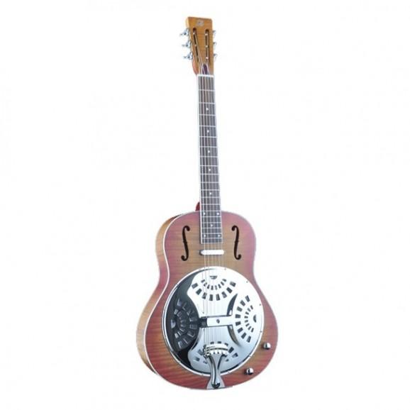 Bourbon Street Resonator Guitar Single Cone Wooden Body