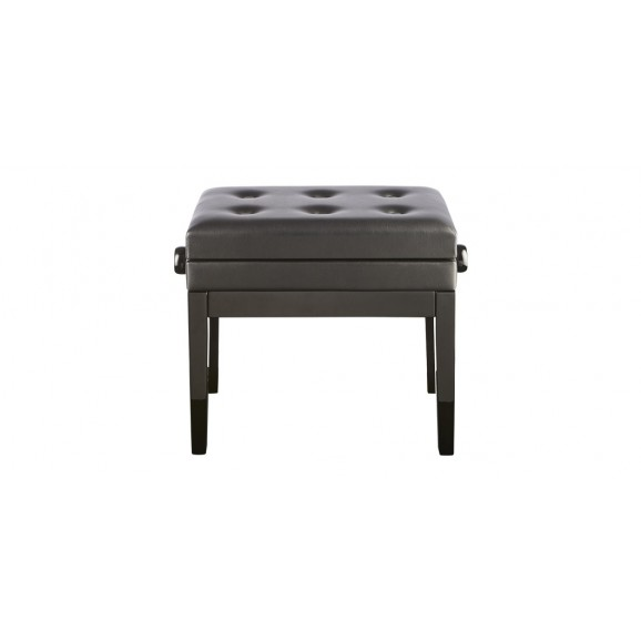 Beale Piano Bench - Black Height Adjustable Piano Stool with lift up lid