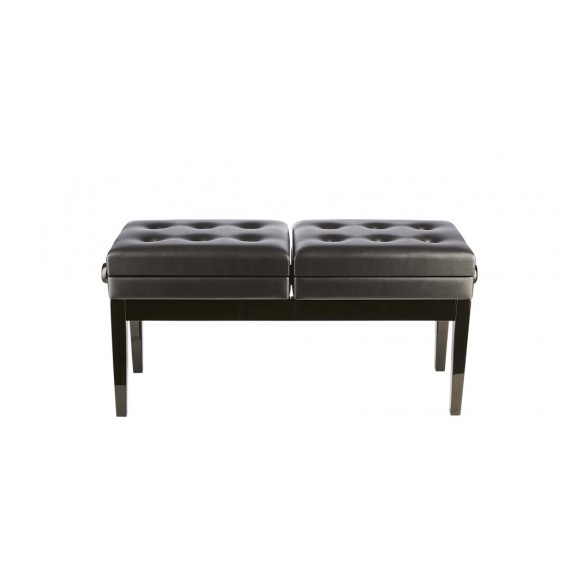 Beale Piano Bench - Dual Black Height Adjustable Piano Stool