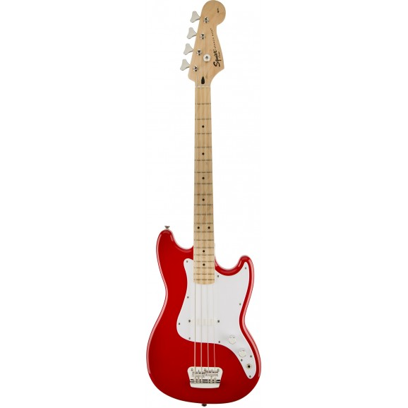 Squier Bronco Bass (Short Scale Bass Guitar) - Torino Red