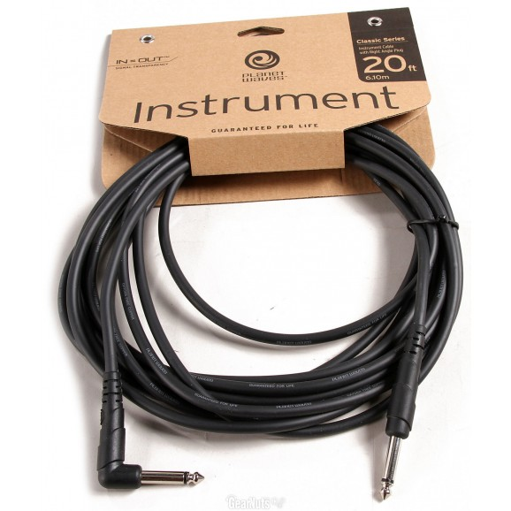 PW-CGTRA-20 Right Angle Instrument Guitar Lead - 20ft