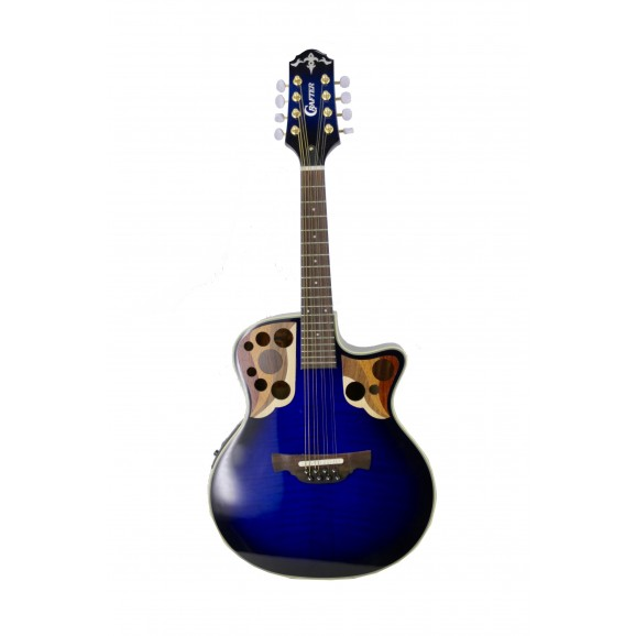 Crafter M88E Mandolin with Pick Up in Blue Tiger Marine