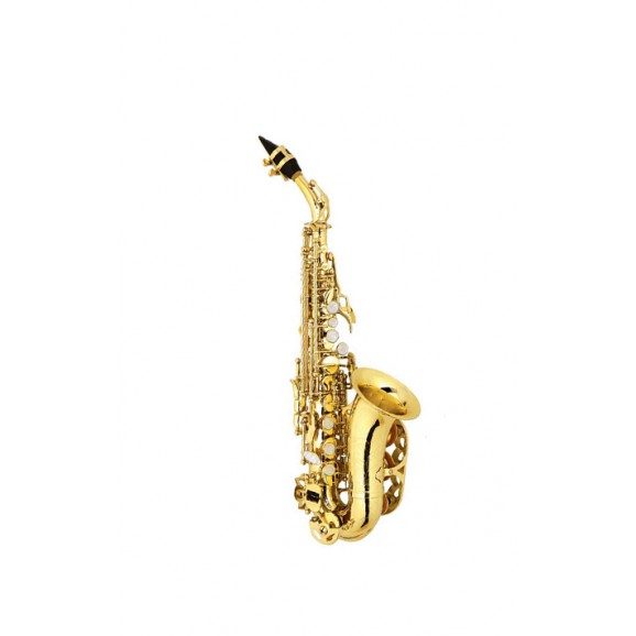 Curved Soprano Saxophone Lacquer Finish