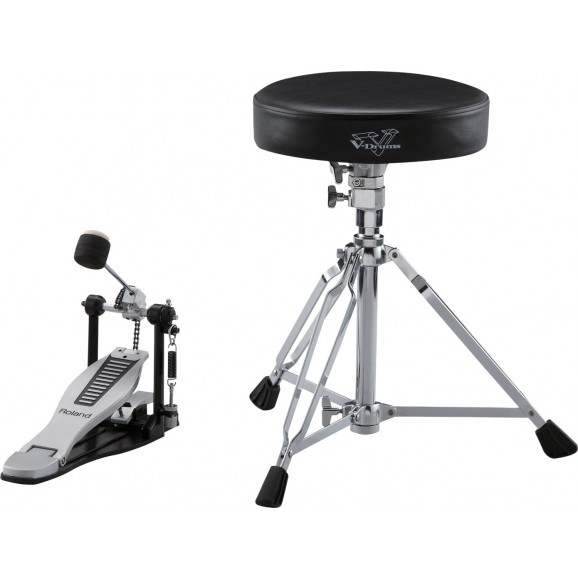 Roland DAP3X V-Drums Accessory Package - Kick Pedal, Throne and Sticks