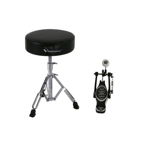Roland DAPTD11B (RDT10 Drum Throne and RKP10 Single Kick Pedal)