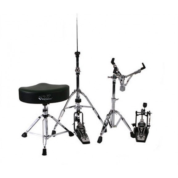 Roland DAPTD50B (RDT50 Drum Throne, RKP50 Single Kick Pedal, RHH50 Hi-Hat Stand and RSS50 Snare Stand)