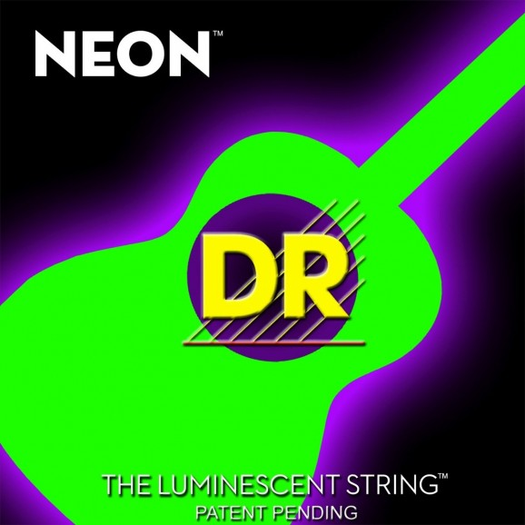 DR Strings 11-50 Medium Light Neon Green Coated Acoustic Strings