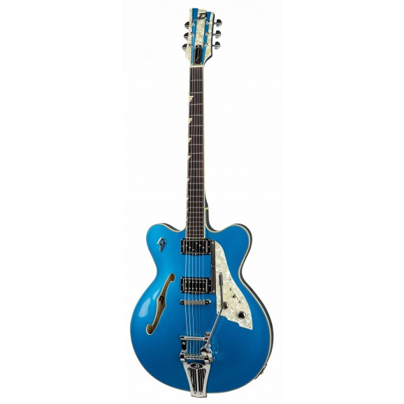 Fullerton Elite Hollow Body Electric Guitar - Catalina Blue