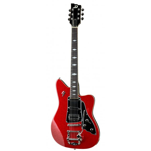 Paloma Red Sparkle Electric Guitar with Custom Case