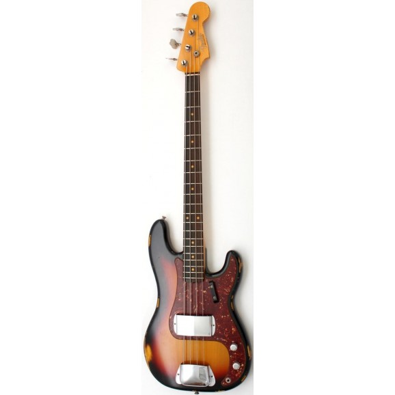 CS 1964 Heavy Relic P-Bass in Burnt 3 Colour Sunburst