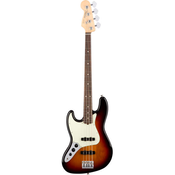 Fender American Professional Left Handed Jazz Bass with Rosewood Neck in 3-Colour Sunburst