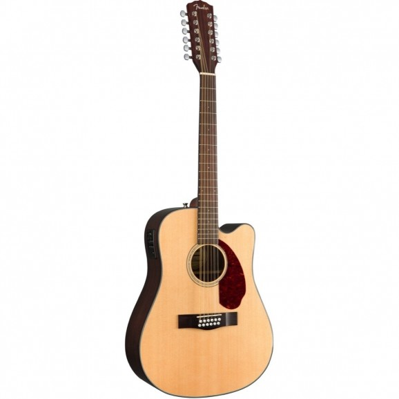 Fender CD-140SCE-12 12-String Acoustic Guitar - Natural with Case