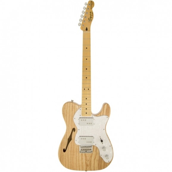 Squier Vintage Modified '72 Thinline Telecaster with Maple Neck in Natural