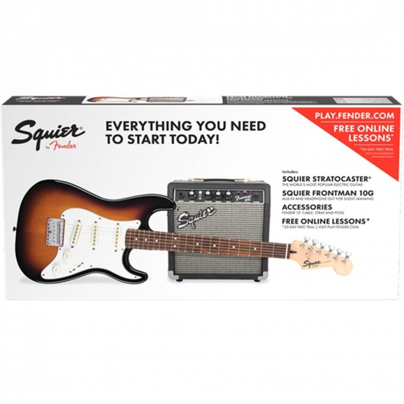 Affinity Stratocaster SS Pack with SQ10G Amp - Sunburst
