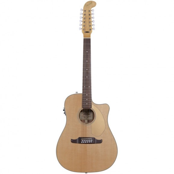 Fender Villager SCE Aoustic Electric 12 String Guitar - Natural