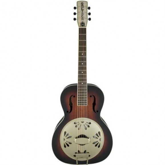 Gretsch Alligator Biscuit Round Neck Resonator Guitar - Two Tone Sunburst