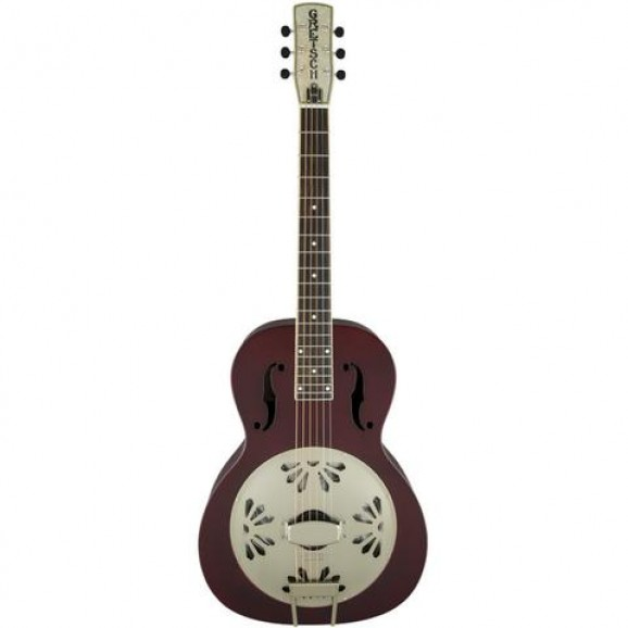 Gretsch G9202 Honey Dipper Special Round Neck Resonator Guitar - Oxblood Red
