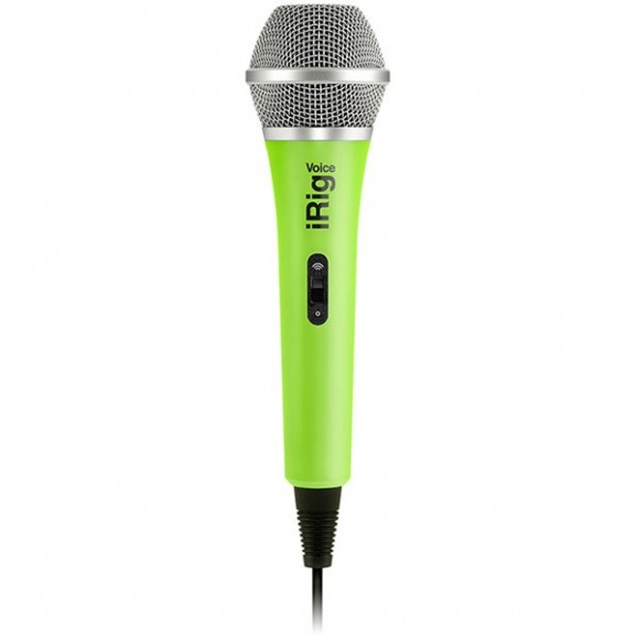 IK Multimedia iRig Mic Voice Analog Handheld Mic - Green
