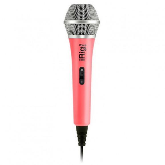 iRig Mic Voice Analog Handheld Mic - Pink