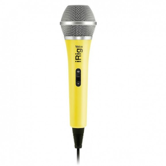 IK Multimedia iRig Mic Voice Analog Handheld Mic - Yellow