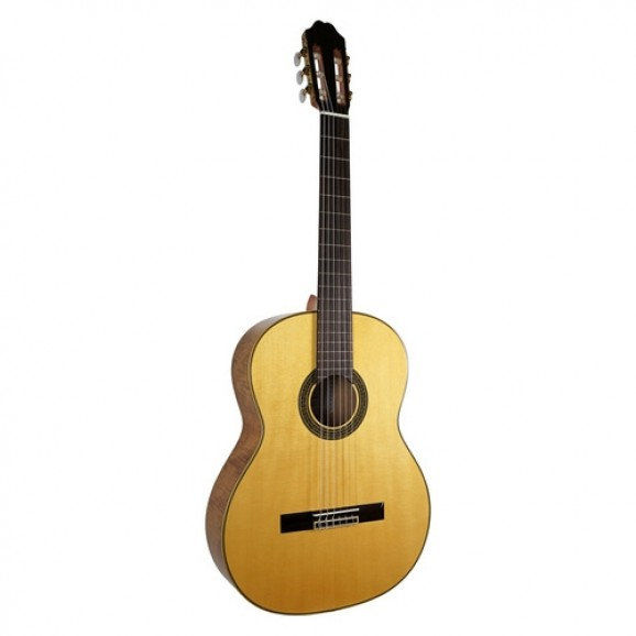 Katoh MCG85S Solid Spruce Top Classical Guitar with Flame Maple Back/Sides
