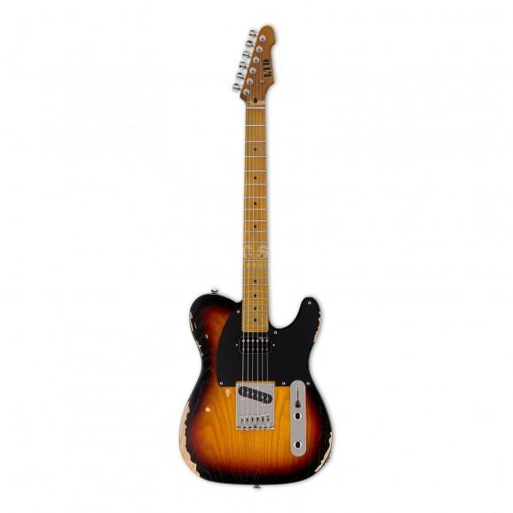 LTD TE254 Distressed 3-Tone Sunburst Electric Guitar