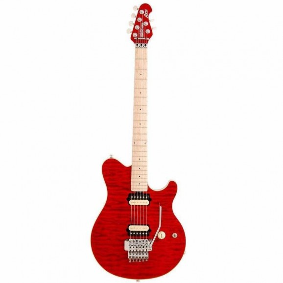 Music Man Axis Electric Guitar HH Trans Red Floyd Rose Tremolo MPL-FB