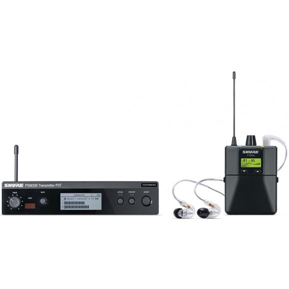 Shure PSM300 Wireless In Ear Monitor System w/ SE215 Earphones