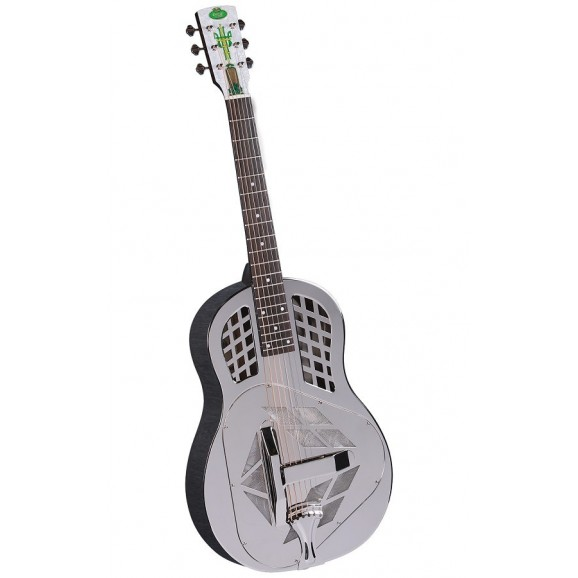 Regal RC-51 Metal Body Nickel-Plated Brass Tricone Resonator Guitar