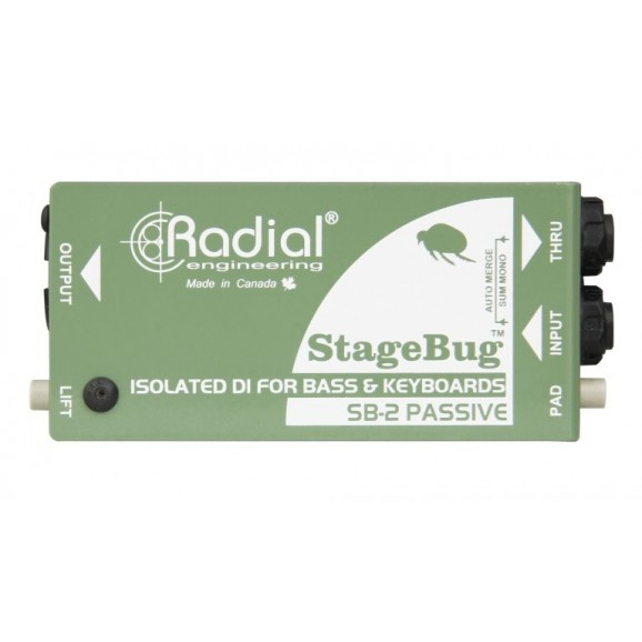 Radial - StageBug 2 Passive D.I. Box for Bass and Keyboards
