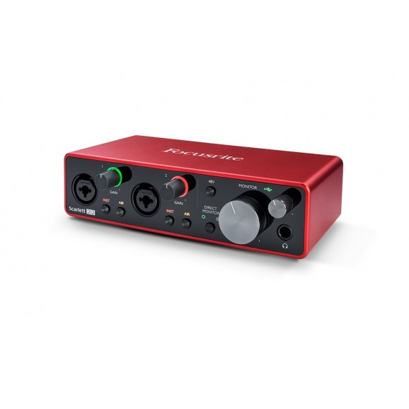 Focusrite Scarlet Studio 2i2 Gen 3 USB C 2x2 Audio Interface Pack
