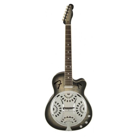 Fender Roosevelt Acoustic Electric Resonator CE - Moonlight Black- 1 Only At This Price As Has Mark